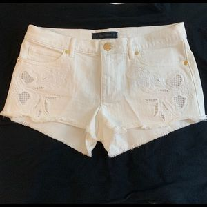 Juicy Couture White Denim Shorts